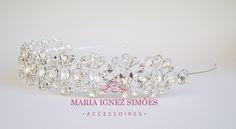 Tiara gotas e banho prata - tiara - noiva - casamento - peças personalizadas - grinaldas - curitiba - casamento - inspiração noiva