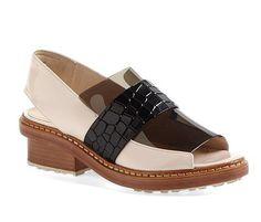 3.1 Phillip Lim Pink and Black Darwin Peep-Toe Flats ($495)