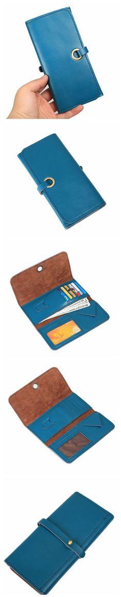 Removable document holder Men/'s brown soft genuine leather wallet Ricardo