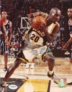 9cb707a93 Gary Payton Autographed 8x10 Photo  SportsMemorabilia  SeattleSupersonics
