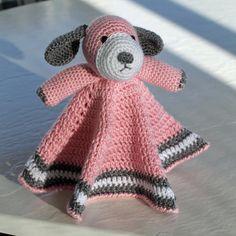 Crochet Puppy Dog Lovey Security Blanket •Material: Softest Acrylic Yarns