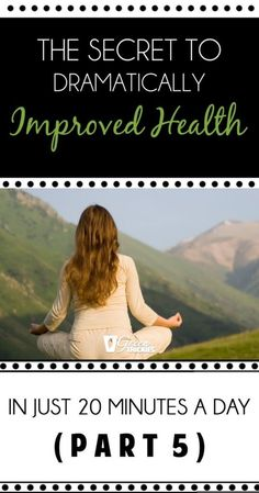 The Secret To Dramatically Improved Health In Just 20 Minutes A Day (Part Healthy Mind And Body, Get Healthy, Healthy Tips, Healthy Habits, Healthy Recipes, Health And Beauty, Health And Wellness, Health Fitness, Best Green Smoothie
