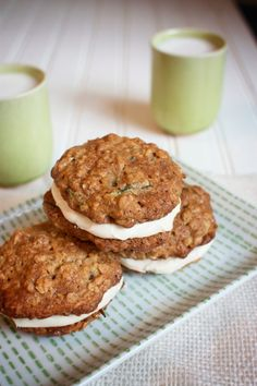 Zucchini Sandwich Cookies with Cream Cheese Frosting--Dairy & Egg-Free!