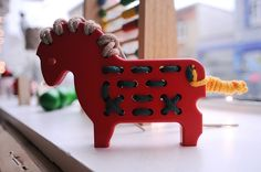 Cute idea for a sewing toy for a little kid.  Old teaching craft idea.  Love it