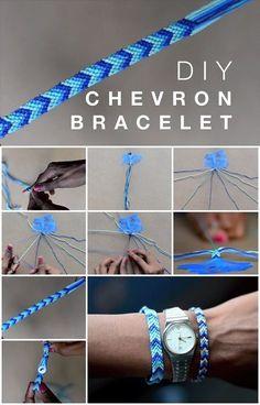 Here's the link to the tutorial >> How to Make Chevron Friendship Bracelet << by simpleDIYs…