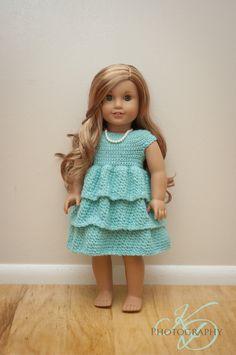 The Ally Dress Crochet Doll Dress 18 Doll Dress by jkdepriest