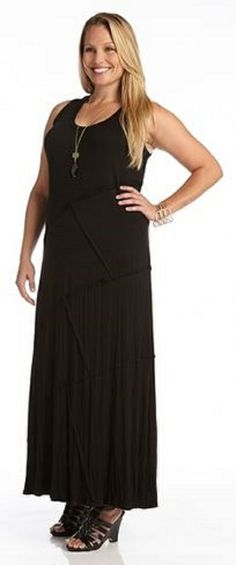 Karen Kane Katie Cowl Neck Highlow Midi Dress Plus Size