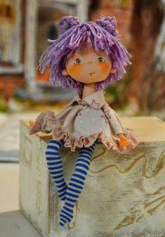 Crochet Toys Patterns, Stuffed Toys Patterns, Crochet Dolls, Doll Patterns, Doll Crafts, Diy Doll, Pretty Dolls, Beautiful Dolls, Crochet Dragon