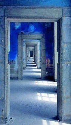 A SERIES OF INFALATED BLUE ROOMS