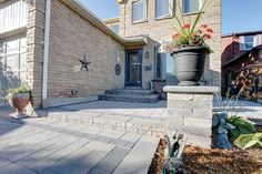 Front Entrance project completed by Imperial Stone And Design Front Entrances, Curb Appeal, Patio, Stone, Outdoor Decor, Projects, Design, Home Decor, Log Projects