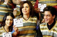 Amrita Rao, Farah Khan and Shah Rukh Khan at the music launch of Main Hoon Na Main Hoon Na, Anu Malik, Amrita Rao, Shahrukh Khan, Falling In Love, Maine, Bollywood, Product Launch, Songs