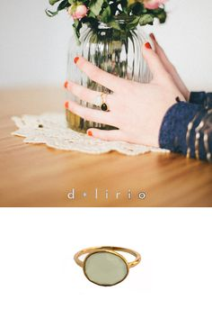 anillo verde agua en d-lirio.com