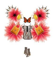 """""""butterfly"""" by jennross76 ❤ liked on Polyvore featuring Jimmy Choo and River Island"""
