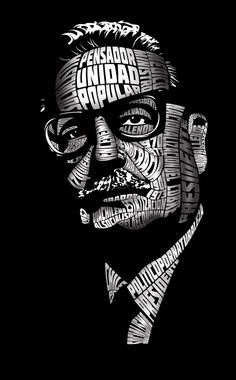 Salvador Allende by sarigueya on @DeviantArt Political Posters, Political Art, Political Figures, Victor Jara, Fidel Castro, Power To The People, Illustrations And Posters, Portrait Art, Caricature