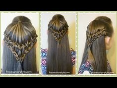 Easy and Quick French Braid Hairstyle. Back To School Hairstyles. Penteados - YouTube