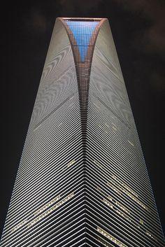 The Shanghai World Financial Centre Kohn Pedersen Fox, Unique Buildings, Interesting Buildings, Amazing Buildings, Beautiful Architecture, Contemporary Architecture, Art And Architecture, Tadao Ando, Building Structure, Building Design
