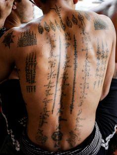 Getting Sak Yant Tattoos in Cambodia sak sant tattoo design cambodia Thai Tattoo, Männermodels Tattoo, Khmer Tattoo, Sak Yant Tattoo, Body Art Tattoos, Tattoo Drawings, New Tattoos, Small Tattoos, Sleeve Tattoos