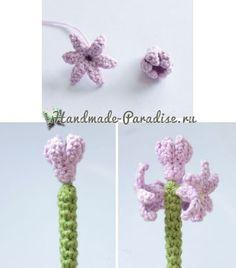 Amigurumi Tulip Bulb Doll Crochet pattern with Instant Crochet Flower Patterns, Crochet Patterns Amigurumi, Crochet Designs, Crochet Dolls, Crochet Fruit, Crochet Cactus, Crochet Leaves, Crochet Small Flower, Love Crochet