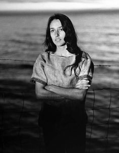 size: Premium Photographic Print: Folk Singer Joan Baez on the Beach Near Her Home by Ralph Crane : Subjects Joan Baez, Buffy Sainte Marie, Civil Rights March, Pete Seeger, Chris Cornell, Folk Music, Bob Dylan, Female Singers, Her Music