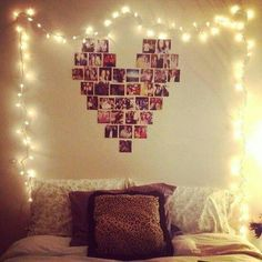 Indoor String Lights For Bedroom Framing Family Photos