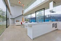 Kitchen Transparence Stylish Contemporary Interior Inspiring Breeziness in Australia