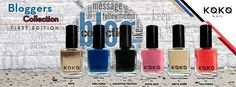 Koko Nail unveils the most awaited New Bloggers Collections First Edition. What's New in the collection? Well, the shades are named after 6 different lovely Bloggers from UAE  Q8mangopeople #Sana @BooniBlog #HibaMirza Style Is Necessity #SamanthaFrancis Fashion, Beauty & Makeup ~ ShyCheeeks #SaimaQais Pretty in the Desert #AseyaNasib My Small Obsessions #TalaFarah #bloggers #collection #kokonailpolsih #kokonail #nailpolish #dubai #mydubai #uae