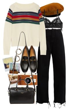 """""""Untitled #10308"""" by nikka-phillips ❤ liked on Polyvore featuring Hermès, Hanky Panky, Polaroid, Marques'Almeida, Acne Studios, LØMO, Band of Outsiders, Gucci and Yves Saint Laurent"""