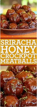 Sriracha Honey Slow Cooker Meatballs MAKES 24 ACTIVE TIME 20 Min TOTAL TIME 4 Hours 20 Minutes INGREDIENTS 1 cup sriracha hot ...