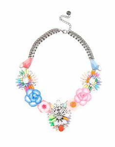 Bershka México - Collar broches y flores