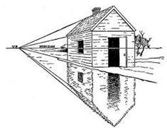 Image result for perspectiva oblicua con dos puntos de fuga edificio