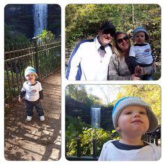 Preston at Minnehaha Falls in Minneapolis, MN