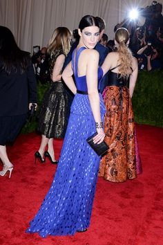 "Jessica Pare was one of the many celebs that tried to #appropriate punk style at the 2013 Met Gala. Grace Coddington probably commented on these interpretations the best: ""Well I'd like to see some real punks in here, some real street punks. But I doubt they were invited."""