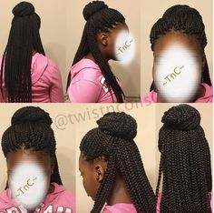 Crochet Box Braids Bun : ... Crochet Braids on Pinterest Crochet braids, Crochet box and Crochet