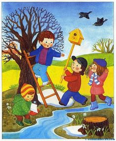 Imágenes educativas | El otoño - Las estaciones del año - Web del maestro Bee Crafts For Kids, Art For Kids, Sequencing Cards, Picture Composition, English Activities, Cross Paintings, Watercolor Bird, Cartoon Pics, Illustrations And Posters