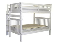 Bunk Bed Full over Full Mission style - End Ladder in White Bedz King http://www.amazon.com/dp/B00L3O7528/ref=cm_sw_r_pi_dp_7huXtb0KNNAT5T4P