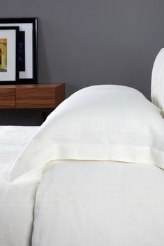 Vintage Chic Linen Bedding Pre-Washed Tailored Linen Duvet - Antique White on HauteLook