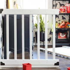 sweet home chicago Diy Dog Gate, Diy Gate, Diy Baby Gate, Baby Gates, Porch Gate, Front Porch, Extra Wide Baby Gate, Dog Rooms, Office Setup