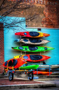 Colorful Kayaks-HDR