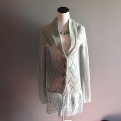 Free People skirted cardigan Tunic length. Super cute. Great condition. Free People Sweaters Cardigans