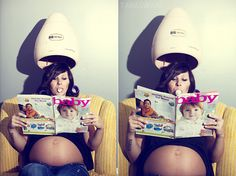 So cool! I think I just might have to do something like this for my maternity shoot!