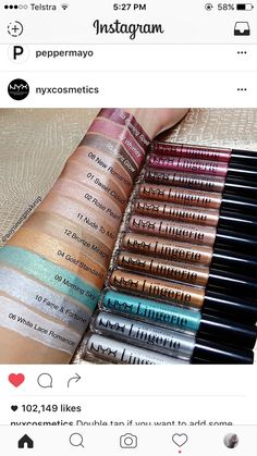 I love seeing swatches