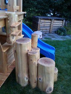 module de jeux Cabanes et Jeux Ludo - Cabanes et Jeux Ludo Outdoor Chairs, Outdoor Furniture, Outdoor Decor, Ludo, Home Decor, Treehouses, Home Ideas, White Cedar, Cabins