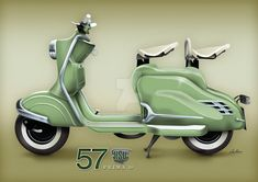 This is an NSU scooter I'm restoring, so there are a few pieces of artwork to design the colour scheme I intend to use. This one is based on my sons demand that 'it needs to have flames on it'! Motor Scooters, Vespa Scooters, Vespa Lambretta, Classic Bikes, Sidecar, Vintage Racing, Chopper, Cars And Motorcycles, Motorbikes