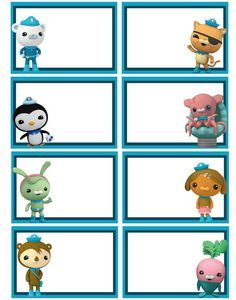 octonauts food tags - Google Search