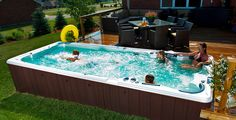 See Our Hot Summer Deals—Save up to $1,000 on #SwimSpas and #HotTubs! Drop into the Waterloo #showroom today!