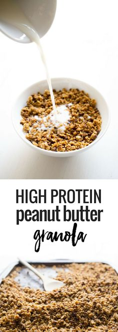 Start your day off strong with this High Protein Peanut Butter Granola ...
