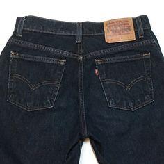 Levi's 555 Guy's Fit Jeans 7L Long Straight Leg Dark Wash 31 x 35 Vintage USA  | eBay