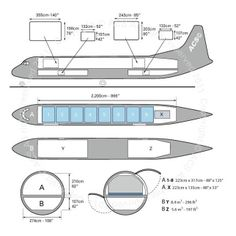 Lockheed L-188 Electra freighter diagram (ACS http://www.aircharterservice.com/)