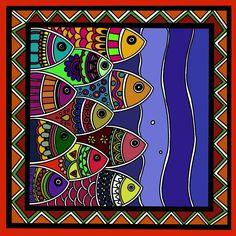 Mandala Art Lesson, Mandala Drawing, Canvas Art Projects, Abstract Geometric Art, Madhubani Art, Indian Folk Art, Indian Art Paintings, Madhubani Painting, Encaustic Art