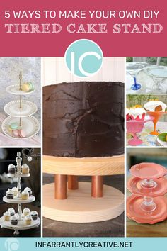 While I was researching different ideas for this project, I came across dozens of terrific ideas anyone could use to DIY a tiered dessert stand. The possibilities for these stands are literally limitless! You can find a tutorial for any skill level, style, size, or shape! And I think I've demonstrated pretty effectively that these stands are pretty versatile! Along with entertaining, they can be used to display craft supplies, spices, makeup, and seasonal decor. Easy Diy Crafts, Diy Craft Projects, Tiered Dessert Stand, Knock Off Decor, Mothers Day Crafts, Diy For Teens, Diy Paper, Craft Gifts, Make Your Own